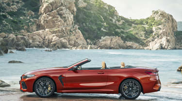 BMW M8 Competition convertible - side view static