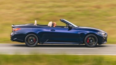 BMW 4 Series Convertible side roof down