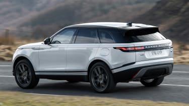 Range Rover Velar SUV rear 3/4 driving