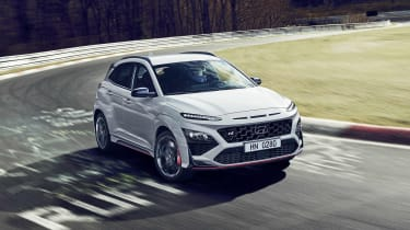 2021 Hyundai Kona N - front 3/4 view