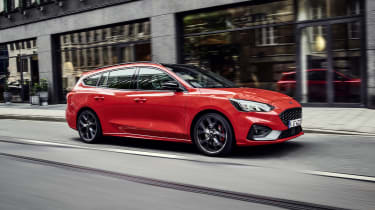 2019 Ford Focus ST estate - front side view driving