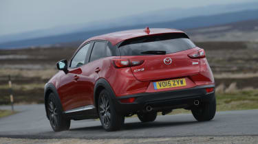 The Mazda is very stable in corners, increasing driver confidence