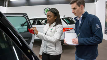 If buying a used car, know what to look for when inspecting