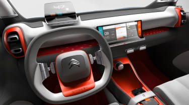 The gear selector is moved to a switch behind the steering wheel