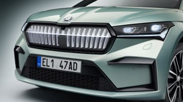 2021 Skoda Enyaq iV - front grille close up