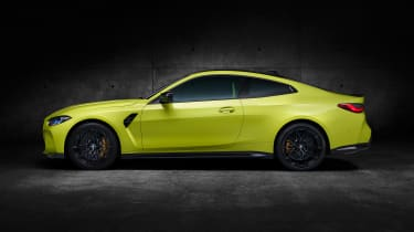 2021 BMW M4 Competition Coupe - side on view