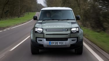 Land Rover Defender SUV front tracking