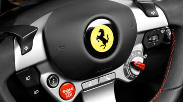 It has Ferrari's manettino switch which changes the car's dynamics