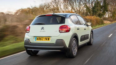 Citroen C3 Flair hatchback rear 3/4 tracking