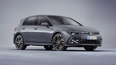 2020 Volkswagen Golf GTD- front 3/4 view