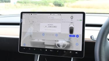 Tesla Model 3 - interior touchscreen air vent controls