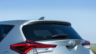 The Auris is fitted with privacy glass from Design trim upwards