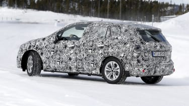 BMW 2 Series Active Tourer in camouflage - driving on frozen road
