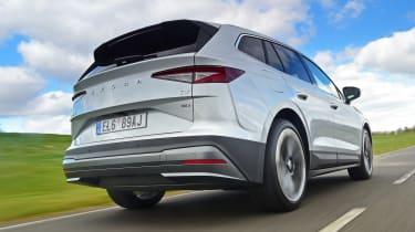 Skoda Enyaq iV SUV rear tracking