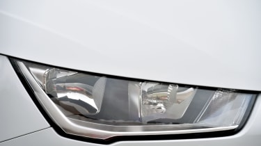 Signature LED running lights are a feature shared with larger Audi models