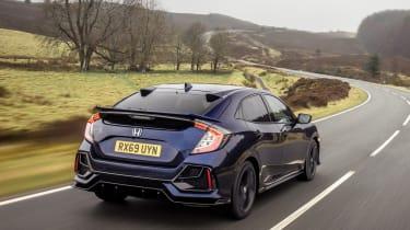 2020 Honda Civic Sport Line - rear 3/4 tracking