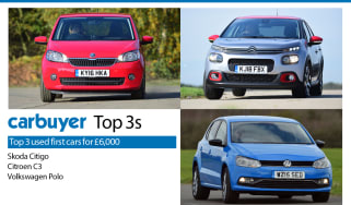 Top 3 used first cars for £6,000