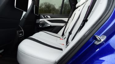 BMW X5 M Competition SUV rear seats