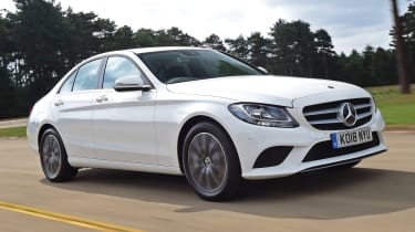 Mercedes C-Class saloon front 3/4 tracking