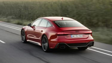 Audi RS7 driving - rear view