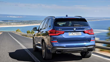 The 3.0-litre diesel 30d is very fast, but increases CO2 emissions to a level that won't please company car users