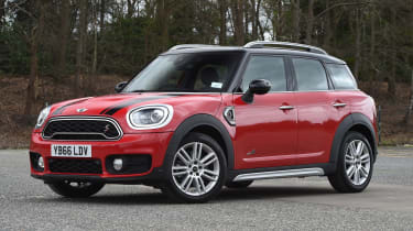 Large headlights and a contrasting roof colour certainly help the MINI stand out amongst rivals
