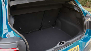 Boot space is good with 358 litres on offer, putting the Nissan Juke's 251-litre boot in the shade