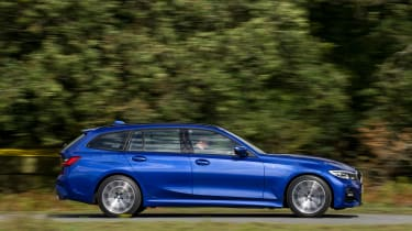 BMW 3 Series Touring driving - side view