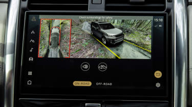 Land Rover Discovery SUV infotainment display
