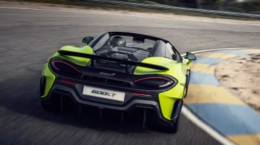 McLaren 600LT Spider convertible rear apex