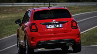Fiat 500X Sport rear - driving