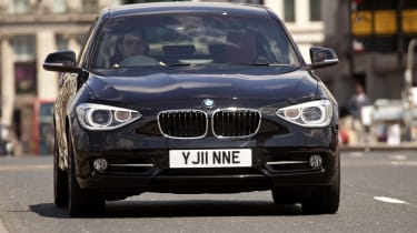 BMW 1 Series 2011 front quarter tracking