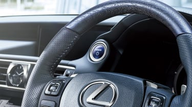 Lexus IS 'I Blue' steering wheel detail