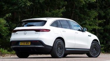 Mercedes EQC SUV rear 3/4 static