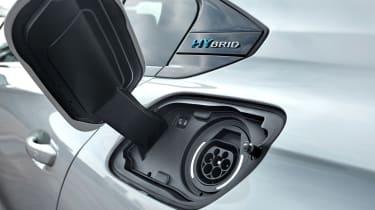 Peugeot 508 plug-in hybrid charging port
