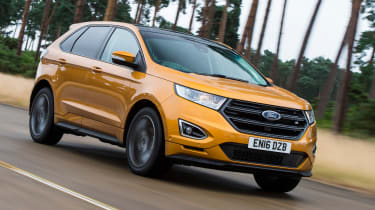 The Ford Edge is an SUV that's comparable to a Land Rover Discovery in size