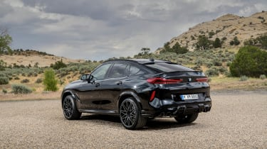 BMW X6 M Competition static - rear view