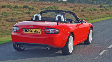 MAzda MX-5 rear three quarter view