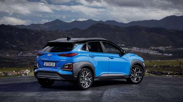 2019 Hyundai Kona Hybrid - rear view static