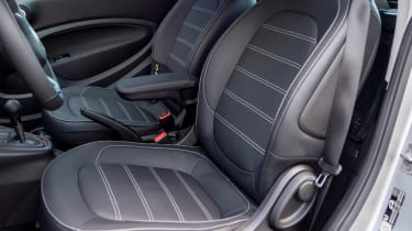 Smart EQ ForTwo hatchback front seats