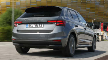 Skoda Fabia hatchback rear 3/4 dynamic