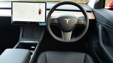 Tesla Model 3 saloon interior