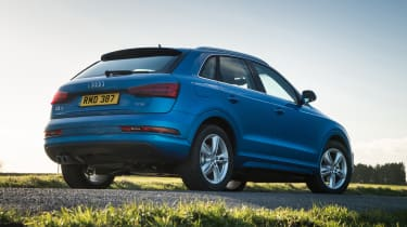 The Q3 sits above the Audi Q2 and below the Audi Q5 and Audi Q7 in the manufacturer's SUV range