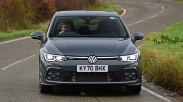 Volkswagen Golf GTE hatchback front tracking