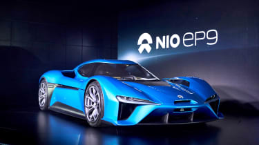 The Nio EP9 covers 0-62mph in 2.7 seconds
