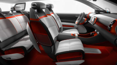 The interior is wonderfully minimalist, with plenty of space for passengers and luggage
