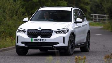 BMW iX3 SUV front 3/4 cornering