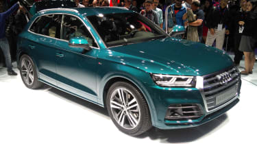 The production Audi Q5 was first shown off at the 2016 Paris Motor Show