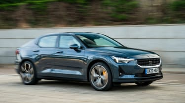 Polestar 2 hatchback side panning