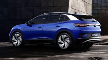 2021 Volkswagen ID.4 driving - rear